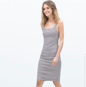 Zara Trafaluc striped bodycon midi dress